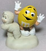 Dept. 56 Yellow Mandm Snowbabies 2004 I'm Nuts About Dancing - Retired - 3.5