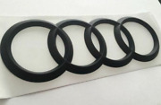 Audi Curved Rings Rear Trunk Boot Emblem Badge Sticker Matte Black A5 S5 Rs5