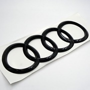Audi Curve Rings Rear Trunk Boot Emblem Badge Sticker Glossy Black A7 S7 Rs7