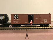 N Scale Atandsf 40' Double Sheathed Wood Box Car Mtl - Micro Trains