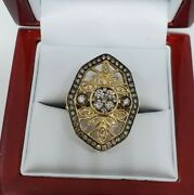 Authentic Levian 14k Gold Chocolate And Nude Diamond Ring Size 8 Gal Msrp 4,525