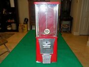 Vintage Eagle 10 Cent Candy Or Gumball Machine - No Key