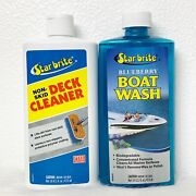 Star Brite Marine Non-skid Deck Cleaner 16 Oz And Blueberry Boat Wash 16 Oz Combo