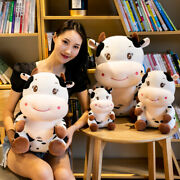 Cute Plush Toy Lovely Cartoon Animal Sit Smiling Cattle Fat Cow Soft Doll Pillow