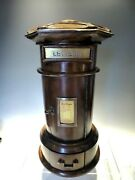 Large Novelty Solid Wood Carved Post Box