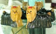 Timmy Woods Yorkie Yorkshire Terrier Dog Purse Clutch Minaudiere Red Bow Fun