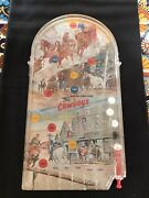 Vintage 1960andrsquos Wolverine The Cowboys Action Marble Game Table Top Pinball