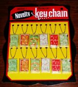 1950s 1960and039s Sports Key Chain Pinball Games Store Display Old Store Stock Mint