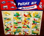 Vintage 1960's Keychain Puzzle Store Display 24 Puzzles Old Store Stock Display
