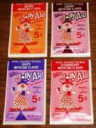 1960's 4 Sealed Packages Jolly Aid Soft Drink Kool-aid Mip Old Store Stock Nos