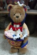 Jim Shore Boyd's Bear 20 All Aboard 92006-16 Noah W/ Quilted Ark Animals Box