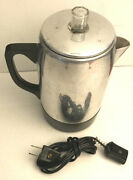 Percolator Vintage Electric Ground Coffee Pot Hong Kong Plug In Complete