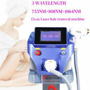 1064nm 755nm 808nm Diode Laser Permanent Bodyandfacial Hair Removal Beauty Machine