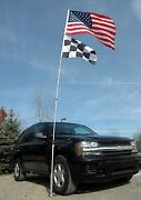 Tailgate Flagpole And Roll Over Tire Mount Wheel Stand 14and039 17and039 20and039 Flag Pole