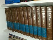 Encyclopedia Britannica 15th Edition 1989 Complete Set - 32 Books Brown Leather