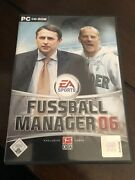 Rare Pc Computer Game Fussball Manager 2006 Game Free Shipping Ea Sports