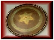Large Copper Beautiful Tray Antique Middle Eastern Hand Etcheched - Hammered