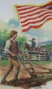 Original Sons Of Liberty Oil On Canvas Dennis Lyall Used By Usps Firstday Cover