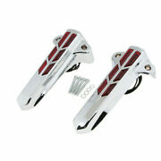 Red Led Light Front Lower Fork Leg Covers Motorcycle For Harley 14-up Road King