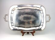 F B Rogers Silver On Copper 24 Serving Tray With Handles 775