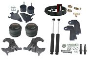 Front Weld On Air Ride Suspension Kit Spindles Shock Relocate For 1982-2005 S10