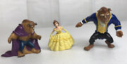 Lot Of 3 Beauty And The Beast Disney Applause Burger King Figurines