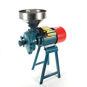 220v Electric Grinder Dry Feed Flour Mill Cereals Grain Corn Wheat Usa Stock