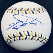 Vary Rare Steve Perry Journey Music Icon Beckett Autographed Signed Baseball