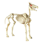 Home Accents Holiday Standing Skeleton Horse Halloween Decor Glowing Eyes 6 Ft