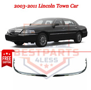 New Set Of 2 Chrome Front Lh And Rh Bumper Trims For 2003-2011 Lincoln Town Car