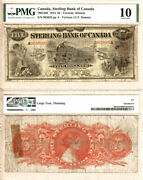 1914 5 The Sterling Bank Of Canada Train Note Ch700-12-02 Pmg Vg10