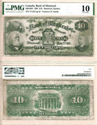 Scarce 1895 10 Bank Of Montreal Issued Note Pmg Vg10 505-44-04