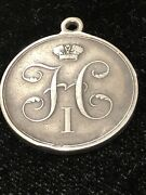 Russian Empire Military Silver Medal Of Mikhail Lazarev Turkey Expedition 1833