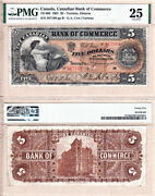 1901 5 Canadian Bank Of Commerce Cibc 75-14-06 Pmg Vf25