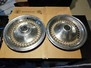 Ford Thunderbird Hub Caps Hubcaps Wheelcovers 15 1 Pr - Used