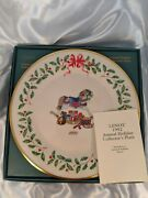 Lenox China 2nd Annual Holiday Christmas Plate 1992 Rocking Horse And Toys W Box