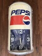 Vintage Pepsi Cola Plastic Soda Can Advertising Store Display Wall Can Clock
