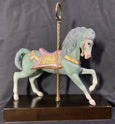 Rare Cybis Porcelain Carousel Horse Limited Edition 434 Of 500