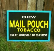 Vintage Look Old Style Mail Pouch Tobacco Cigarettes Sign Hot Rod Garage Art