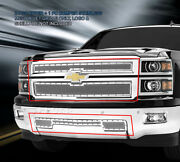 Formed Rivet Mesh Grille Combo Grill For Chevy Silverado 1500 2014-2015