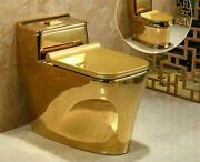 Bathroom Seat Toilet Golden One Piece Siphon Fluishing S-trap Floor Closestools