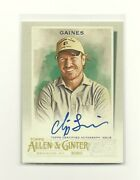 2020 Topps Allen And Ginter Chip Gaines Ssp On Card Autograph - Hgtv Tv Host