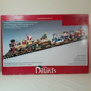 Dillard's Trimmings Animated Christmas Train Set -g Scale By New Bright Complete