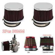 2x Tapered 38mm High Flow Performance Air Filters Motorcycle Replacement Parts