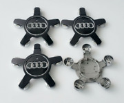 4pcs 135mm Audi Black Wheel Center Caps Rim Caps Hub Caps Emblems Badges