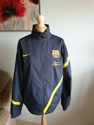 Nike Fcb Mens Jacket Size M Very Good Condition 👍 Dark Blue Colour