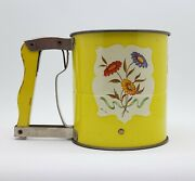 Vintage Androck Hand-i-sift 3-level Sifter With Yellow Handle