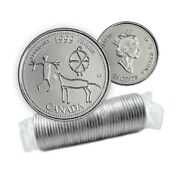 1999 Canadian 25cent February Etched In Stone Millennium 25andcent Original Coin Roll