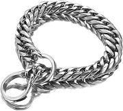 P Chock Stainless Steel Curb Chain Pet Dog Collar For All Pet Dog Leash Training
