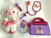 Disney Jr Doc Mcstuffins Singing And Dancing Lambie Doll With Toy Doctor's Kit